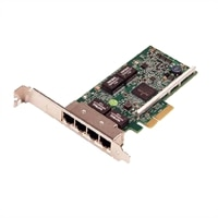 Dell Quad Port 1GbE PCIe Network Interface Card - Full Height
