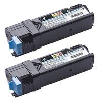 Dell - 6,000 Page Black Dual High Capacity Toner Cartridge for Dell 2150cn /cdn 2155cn/cdn Color Laser Printers