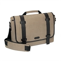 Targus 15.6'' City Fusion Canvas Messenger - Tan Canvas