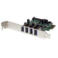 4-port StarTech.com 4 Port PCI Express PCIe USB 3.0 Card w/ UASP - SATA Power - USB adapter