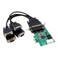 4-port StarTech.com 4 Port Low Profile Native RS232 PCI Express Serial Card with 16950 UART - serial adapter