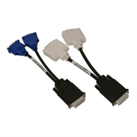 Dell - Dual DVI-to-VGA / Dual VGA-to-DVI Y Cable Kit