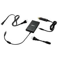 Dell 65-Watt Auto / Air AC Adapter with Power Cord for Dell Precision Mobile Workstations / Inspiron Laptops / Latitude Laptops