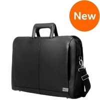 "Dell - Executive 14"" Leather Attaché Laptop Carrying Case"