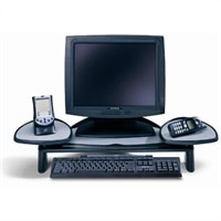 Flat Panel Monitor Stand - Black with SmartFit System