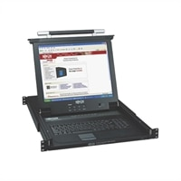 TRIPPLITE 8-Port NetDirector 1U Rackmount Console KVM Switch with 17-inch LCD