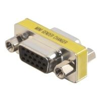 C2G HD15 VGA F/F Mini Gender Changer (Coupler) - VGA gender changer - HD-15 (F) to HD-15 (F) - silver, yellow