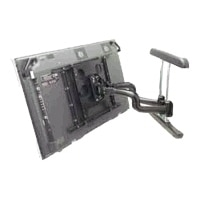 Chief PNR-U - Mounting kit ( wall mount / dual swing arm ) for flat panel - black - wall-mountable