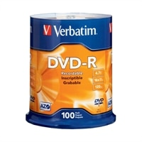100PK DVD-R 4.7GB 16X-BRANDED SPINDLE