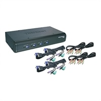 4-Port USB / PS/2 KVM Switch Kit w/ Audio