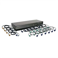 IOGEAR 16-Port USB PS/2 Combo KVM Switch with Cables
