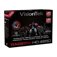 VisionTek Radeon HD 4650 - Graphics card - Radeon HD 4650 - 1 GB DDR2 - PCIe 2.0 x16 - 2 x DVI / HDTV-out
