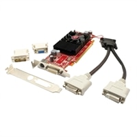 Radeon 4550 SFF 512MB DDR3 (2x DVI-I, TV Out) w/ 2x DVI-I to VGA Adapter