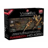 VisionTEK Radeon HD4350 PCIe 512MB HDMI SFF-Short + Tall brackets