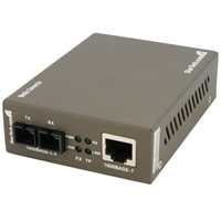 StarTech.com 1000 Mbps Gigabit Single Mode Fiber Ethernet Media Converter SC 15km