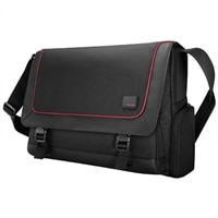 Belkin Inc  Evo Messenger Case - Fits Laptops with Screen Sizes Up to 16 inch - Black/Red