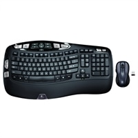 Logitech Wireless Wave Combo MK550 - Keyboard and mouse set - wireless - 2.4 GHz (English)