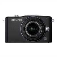 Olympus PEN E-PM1 12.3 MP Interchangeable Lens Camera with 14-42mm Zoom Lens and Full 1080 HD Video – Black