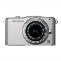 Olympus  PEN E-PM1 12.3 MP Interchangeable Lens Camera with 14-42mm Zoom Lens and Full 1080 HD Video - Silver