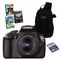 EOS Rebel T3 (BROWN) 12.2 MP CMOS Digital SLR Camera Bundle with 18-55mm DC Lens, Canon Case, 8GB SD Card and Photo Creativity Suite