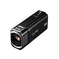 JVC America Everio GZ-V500 Slim High Definition Camcorder with High Speed Recording – Black