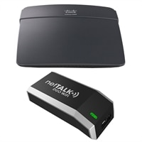 Nettalk Duo WiFi Voip Telephone Service Bundle with Linksys E900 Wireless N Router