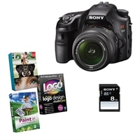 Sony Alpha SLT-A57K 16.1 MP DSLR bundle with 18-55mm Zoom Lens, Sony 8GB SD Card and Photo Creativity Suite