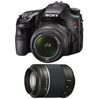 Sony  Alpha SLTA57K 16.1 MP DSLR Bundle with 18-55mm and 55-200mm Zoom Lenses