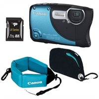CANON CANADA INC. PowerShot D20 CMOS Waterproof Camera Bundle with Case, Floating Strap and 8GB Class 10 SD Card
