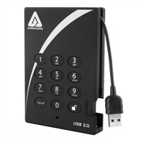 Apricorn Aegis Padlock A25-1000-3PL256 - Hard drive - 1 TB - external (portable) - 2.5-inch - USB 3.0 (A25-3PL-256-1000)