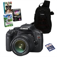 Canon Canada Inc EOS Rebel T2i 18 MP CMOS SLR Camera Bundle with 18-55mm IS Lens, Canon Case, 8GB SD Card  and Photo Creativity Suite