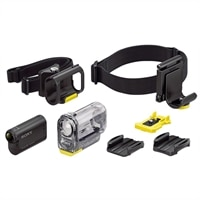 Sony HDR-AS15 Full HD Wi-Fi Adrenaline Junkie Action Camera Bundle with Headband Mount Kit