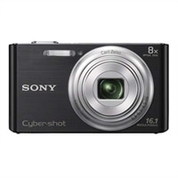 Sony Cybershot DSC-W730 Black 16.1MP Camera with 8X Optical Zoom and Carl Zeiss Lens