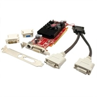VisionTek Radeon HD 4350 SFF DMS59 - Graphics card - Radeon HD 4350 - 512 MB DDR2 - PCIe 2.0 x16 - 2 x DVI, HDTV-out