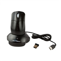 Seal Shield Silver Storm Waterproof - Mouse - optical - 2 buttons - wireless - 2.4 GHz - USB wireless receiver - black
