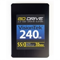 VisionTek 240 GB GoDrive Low Profile 7MM SSD SATA III 2.5-inch 6 GB/S (900624)