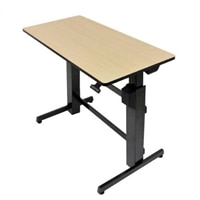 Ergotron WorkFit-D, Sit-Stand Desk (Birch)