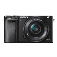 Sony A6000 24.3MP Digital Mirrorless Camera with 16-50mm Lens - Black