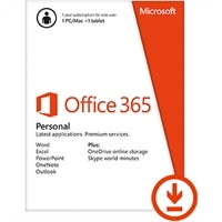 Download - Microsoft Office 365 Personal 32-bit/x64 Subscription Online Product Key 1 License