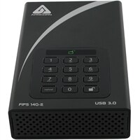 Apricorn 2TB Aegis Padlock DT FIPS - USB 3.0 Desktop External Hard Drive (ADT-3PL256F-2000)