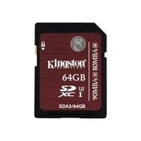 Kingston - Flash memory card - 64 GB - UHS Class 3 - SDXC UHS-I (SDA3/64GB)