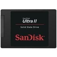 SanDisk Ultra II - Solid state drive - 960 GB - internal - 2.5-inch - SATA 6Gb/s (SDSSDHII-960G-G25)
