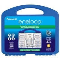 Panasonic Eneloop Advanced Charger Rechargeable Battery Kit w/ 8xAA 2xAAA Ni-MH 2xC 2xD Adaptor : Camera, Photo & Video | Dell Canada