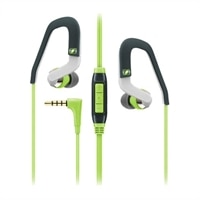 Sennheiser OCX 686G SPORTS - Earphones with mic - in-ear - over-the-ear mount - 3.5 mm jack - green