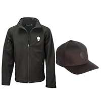 Alienware Slim Fit Men's Jacket & Hat - Size L/XL
