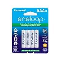 Panasonic BK4MCCA8BF Eneloop AAA 8-Pack