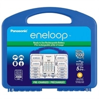Panasonic eneloop K-KJ17MCC82A - Battery charger - 4xAA/AAA - included batteries: 8 x AA NiMH 2000 mAh - with 2 x AAA NiMH batteries