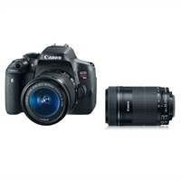 Canon EOS Rebel T6i Digital SLR Camera Bundle with EF-S 18-55mm and EF-S 55-250mm f/4-5.6 IS STM Telephoto Zoom Lens