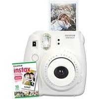 FUJIFILM  NEW Instax Mini 8 Instant Camera W/10 exposure Film White