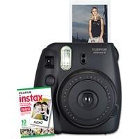 FUJIFILM  NEW Instax Mini 8 Instant Camera W/10 exposure Film Black